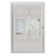 AARCO Enclosed Wall Mounted Bulletin Board, 3' H x 2' W