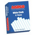 AARCO White Chalk 12 Boxes of 12 Pieces
