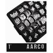 AARCO Universal Single Tab Gothic Typeface Changeable Letters (165 characters per set); 0.75''