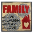 Fetco Home Decor Percher Family We Live We Laugh We Play We Love Textual Art