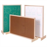 Steffy Two-Position Room Divider Bulletin Board, 3' x 4'; Pegboard