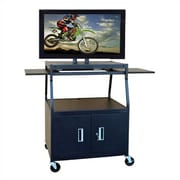 Buhl Wide Body Flat Panel TV Cart with Locking Cabinet