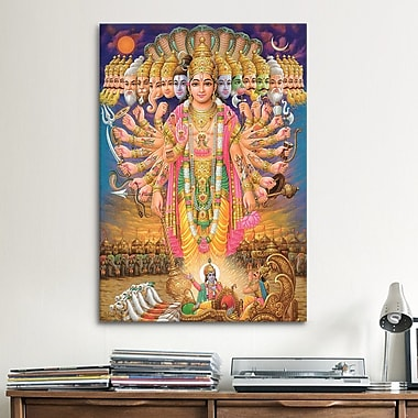 iCanvas Hindu God Vishnu as Virat Swaroop Painting Print on Canvas; 18'' H x 12'' W x 1.5'' D