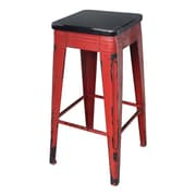 Moe's Home Collection 29.5'' Bar Stool; Red