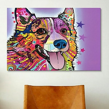 iCanvas 'Corgi' by Dean Russo Graphic Art on Canvas; 40'' H x 60'' W x 1.5'' D