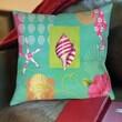 Thumbprintz Tropical Beach Printed Pillow; 16'' H x 16'' W x 4'' D