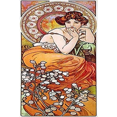 iCanvas Topaz, 1900 by Alphonse Mucha Graphic Art on Wrapped Canvas; 48'' H x 16'' W x 0.75'' D