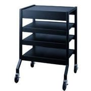Lucasey Mobile Cart With 2 Multi-Position Center Shelves; None
