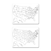 Chenille Kraft USA Map Wall Mounted Whiteboard, 2' x 2'