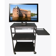 Buhl Flat Panel AV Cart w/ Side Pull Out Shelf