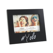 Fetco Home Decor Expressions Wisona Yolo Black with Gems Picture Frame