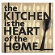Fetco Home Decor Percher The Kitchen Is The Heart of The Home Textual Art