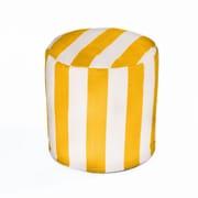 OC Fun Saks Cabana Bean Bag Ottoman; Yellow