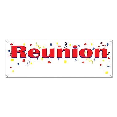 Bannière « Reunion », 5 pi x 21 po, paq./3