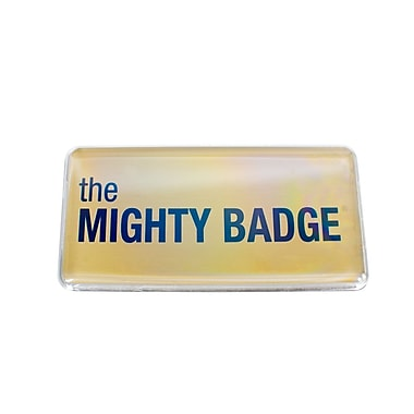 The Mighty Badge Name Badge Kit Inkjet Gold Starter Kit, 1.50