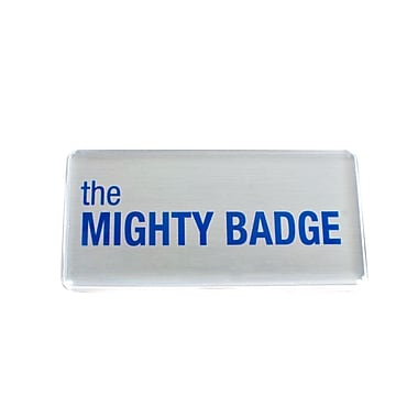 The Mighty Badge Name Badge Kit Inkjet Silver Starter Kit, 1.50
