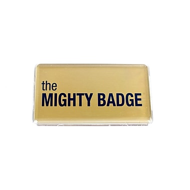 The Mighty Badge Name Badge Kit Laser Gold Starter Kit, 1.50