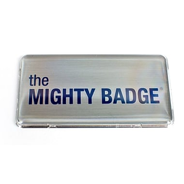 The Mighty Badge Name Badge Kit Laser Silver Starter Kit, 1.50