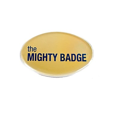 The Mighty Badge Name Badge Kits Oval Gold Starter Kits, 2.57