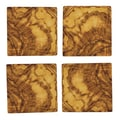 Be Home Olive Wood Square Coaster (Set of 4)