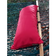 Twin Oaks Hammocks Sunbrella Hammock Outdoor Bolster Pillow; Red