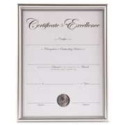 DAX MANUFACTURING INC.                             Backloading Certificate Frame; Silver