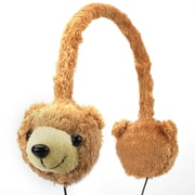 GOgroove® Groove Pal KDZ Over-Ear Headphones With Kids Safe Volume Limiting Sound, Brown Bear