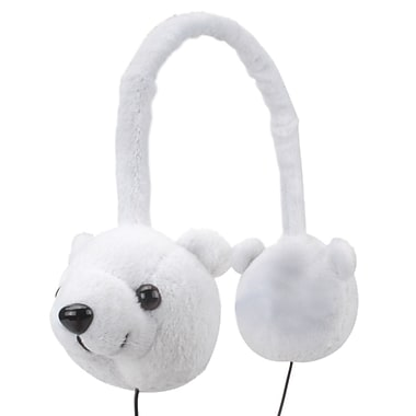 GOgroove® Groove Pal KDZ Over-Ear Headphones With Kids Safe Volume Limiting Sound, Polar Bear