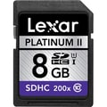 Lexar™ Platinum II 8GB SDHC (Secure Digital High Capacity) Class 10/UHS-I Flash Memory Card