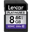 Lexar™ Platinum II 8GB SDHC (Secure Digital High Capacity) Class 10/UHS-I Flash Memory Card