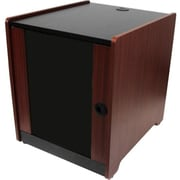 StarTech RKWOODCAB12 12U Office Server Cabinet With Wood Finish and Casters