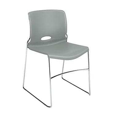 HON Olson High-Density Stacking Chair, Platinum Shell, 4/Pack