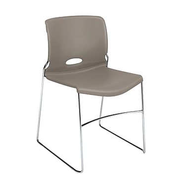 HON Olson High-Density Stacking Chair Shadow Shell, 4/Pack