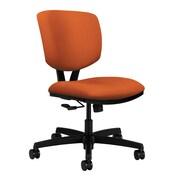 HON Volt Armless Task Polyester Fabric & Nylon Chair, Tangerine