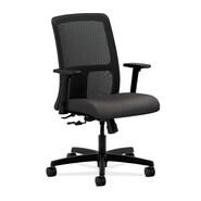 HON Adjustable Arm Low Back Task Chair Fabric Plastic & Mesh, Fog