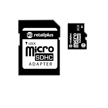 RetailPlus MEMS C10 Memory Card, 8GB, Black