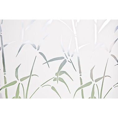 Brewster Bamboo Static Cling Door Privacy Film