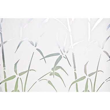 Brewster Bamboo Static Cling Window Privacy Film