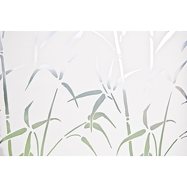 Brewster Bamboo Static Cling Sidelight Privacy Film