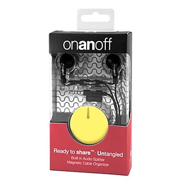 Onanoff LoveBuds with Mustard Yellow Magneat (RED-MAG-006), Yellow