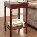 Convenience Concepts French Country End Table; Dark Cherry