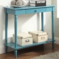 Convenience Concepts French Country Console Table; Blue