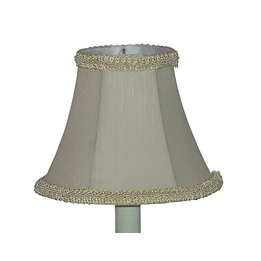 Lamp Factory 5'' Pongee Silk Bell Candelabra Shade (Set of 2)