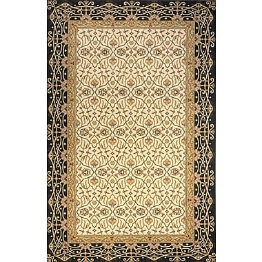 Momeni Persian Garden Charcoal/Yellow Area Rug; Runner 2'6'' x 8'