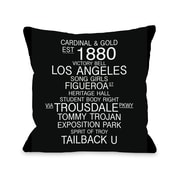 One Bella Casa Los Angeles California Landmarks Throw Pillow; 18'' H x 18'' W