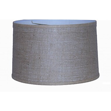 Lamp Factory 16'' Burlap Drum Lamp Shade