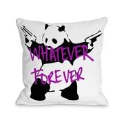One Bella Casa Panda Whatever Forever Throw Pillow; 18'' H x 18'' W