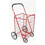 ATH Home Large Shopping Cart with Metal Frame Wheels; Red