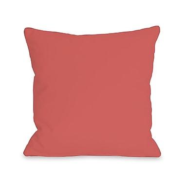 Dark Coral Throw Pillows : [~product.metadata.name~]