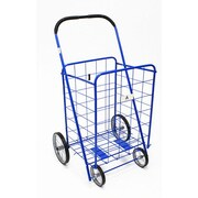 ATH Home Large Shopping Cart with Metal Frame Wheels; Blue